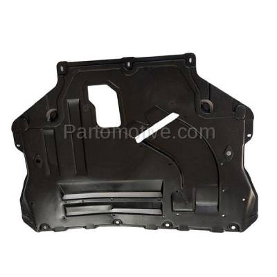 Aftermarket Replacement - ESS-1134 2013-2019 Ford Escape & Lincoln MKC (1.5 & 1.6 & 2.0 & 2.3 & 2.5 Liter Engine) Front Engine Under Cover Splash Shield Undercar Guard Plastic