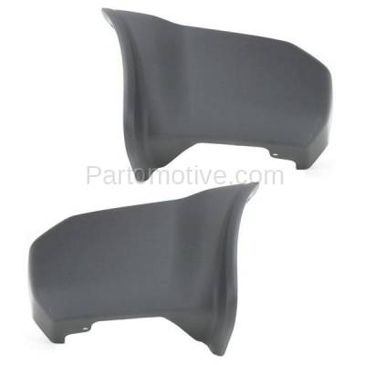 Aftermarket Replacement - BED-1087L & BED-1087R 2000-2004 Nissan Xterra (2.4 & 3.3 Liter Engine) Rear Bumper Extension End Cap Gray Textured Plastic Set Pair Right & Left Side