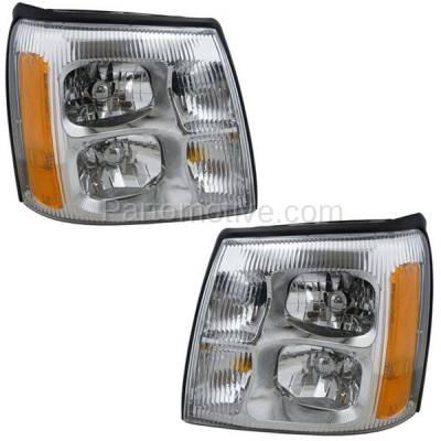 Aftermarket Auto Parts - HLT-1312LC & HLT-1312RC CAPA 02 Escalade Headlight Headlamp Front Head Light Lamp Left & Right Set PAIR