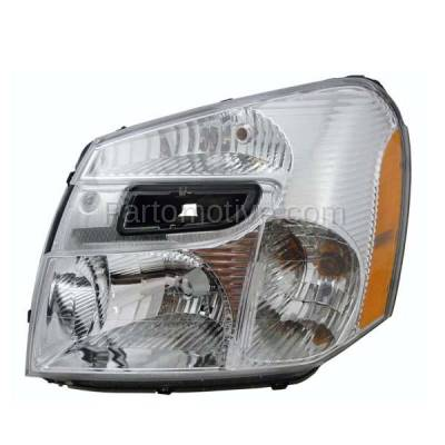 Aftermarket Auto Parts - HLT-1261LC CAPA 05-09 Chevy Equinox Headlight Headlamp Front Head Light Lamp Driver Side LH