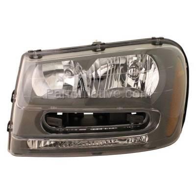 Aftermarket Auto Parts - HLT-1136LC CAPA 02-09 Chevy Trailblazer Headlight Headlamp Head Light Lamp Driver Side DOT