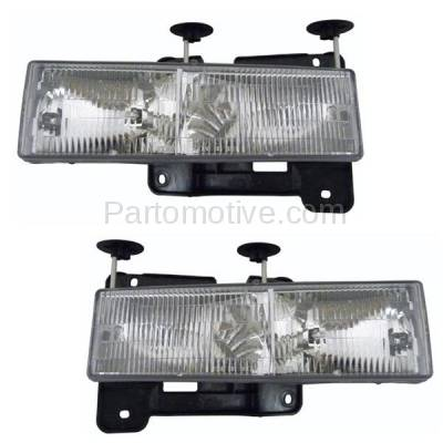 Aftermarket Auto Parts - HLT-1044LC & HLT-1044RC CAPA C/K Pickup Truck Headlight Headlamp Composite Head Lamp Right Left Set PAIR
