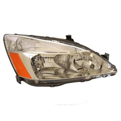 Aftermarket Auto Parts - HLT-1159RC CAPA 03-07 Accord Headlight Headlamp Halogen Head Light Lamp Passenger Side DOT