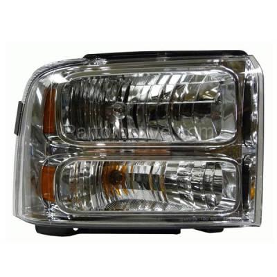 Aftermarket Auto Parts - HLT-1325RC CAPA 05-07 F-Series SuperDuty Headlight Headlamp Head Light Lamp Passenger Side