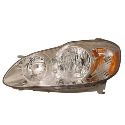 Aftermarket Auto Parts - HLT-1336LC CAPA 05-08 Corolla CE & LE Headlight Headlamp Front Head Light Lamp Driver Side