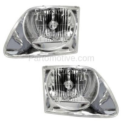 Aftermarket Auto Parts - HLT-1104LC & HLT-1104RC CAPA 01-03 F150 Lightning Truck Headlight Headlamp Head Light Left & Right PAIR