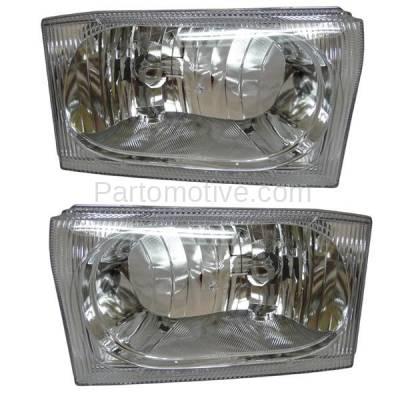 Aftermarket Auto Parts - HLT-1164LC & HLT-1164RC CAPA Ford Truck Excursion Headlight Headlamp Head Light Lamp Left Right Set PAIR
