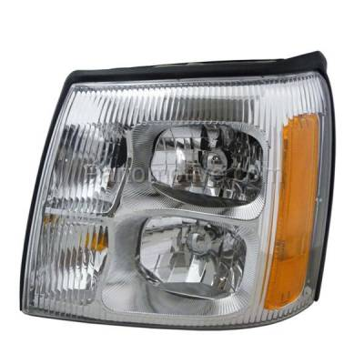 Aftermarket Auto Parts - HLT-1312LC CAPA 02 Escalade Headlight Headlamp Front Non-HID Head Light Lamp Driver Side LH