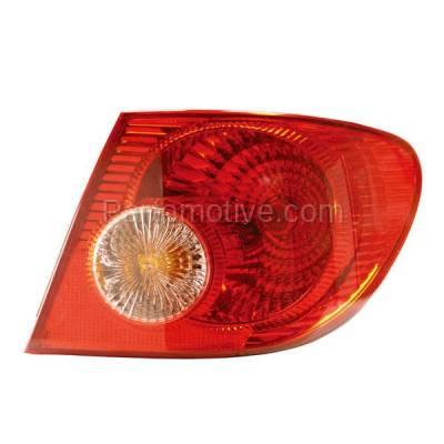 Aftermarket Auto Parts - TLT-1123RC CAPA 04-08 Corolla Taillight Taillamp Rear Brake Light Lamp Passenger Side RH