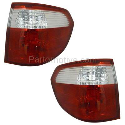 Aftermarket Auto Parts - TLT-1164LC & TLT-1164RC CAPA 05-07 Odyssey Taillight Taillamp Brake Lamp Outer Light Left Right Set PAIR