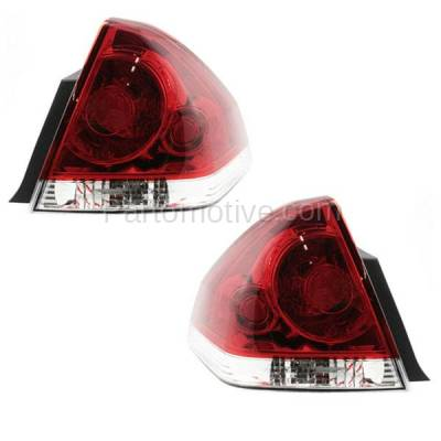 Aftermarket Auto Parts - TLT-1228LC & TLT-1228RC CAPA 06-13 Chevy Impala Taillight Taillamp Brake Light Lamp Left Right Set PAIR