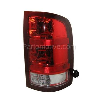 Aftermarket Auto Parts - TLT-1312RC CAPA 07-10 Sierra Truck Taillight Taillamp Rear Brake Light Lamp Passenger Side