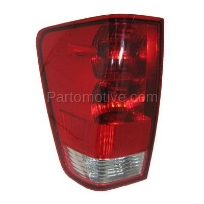 Aftermarket Auto Parts - TLT-1116LC CAPA 04-12 Titan w/Utility Bed Taillight Taillamp Brake Light Lamp Driver Side L