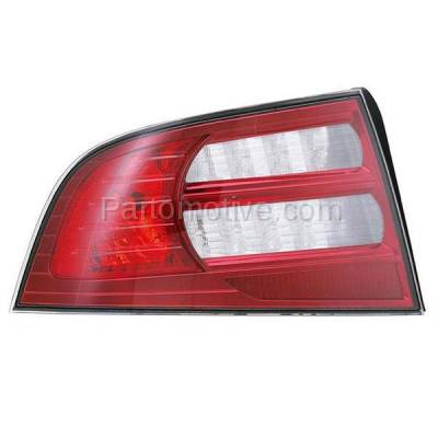 Aftermarket Auto Parts - TLT-1353LC CAPA 07-08 Acura TL Base Taillight Taillamp Rear Brake Light Lamp Driver Side LH