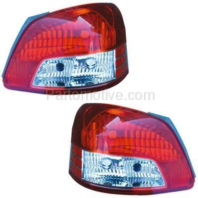 Aftermarket Auto Parts - TLT-1328LC & TLT-1328RC CAPA 06-12 Yaris Sedan Taillight Taillamp Brake Light Lamp Left & Right Set PAIR