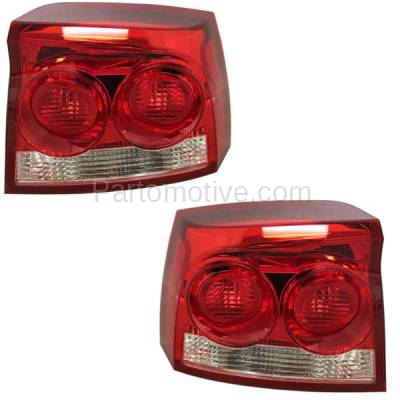 Aftermarket Auto Parts - TLT-1599LC & TLT-1599RC CAPA 09-10 Charger Taillight Taillamp Rear Brake Light Lamp Left Right Set PAIR