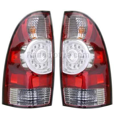 Aftermarket Auto Parts - TLT-1616LC & TLT-1616RC CAPA 08-13 Tacoma Truck LED Taillight Taillamp Rear Brake Light Lamp Pair