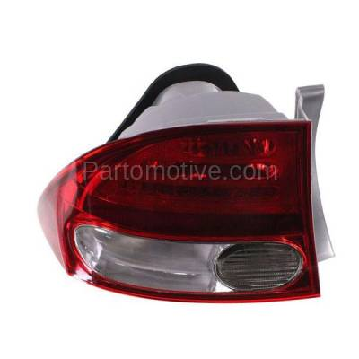Aftermarket Auto Parts - TLT-1376LC CAPA 09-11 Civic Sedan Taillight Taillamp Rear Brake Light Lamp Driver Side LH
