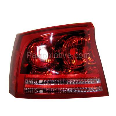 Aftermarket Auto Parts - TLT-1378LC CAPA 06-08 Dodge Charger Taillight Taillamp Rear Brake Light Lamp Driver Side LH