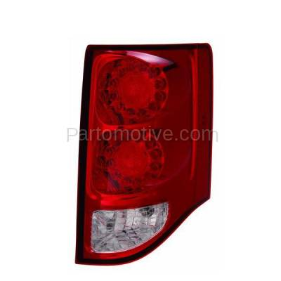 Aftermarket Replacement - TLT-1597R 11-13 GR. Caravan Taillight Taillamp LED Brake Light Lamp Right Passenger Side R