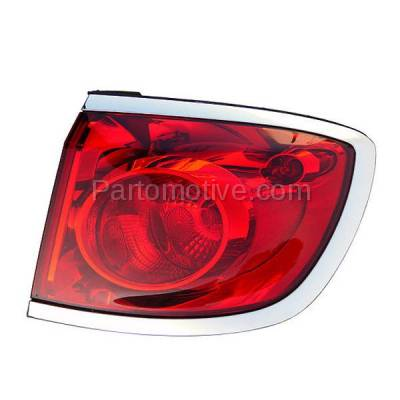 Aftermarket Replacement - TLT-1607R 08-12 Enclave Taillight Taillamp Rear Brake Light Lamp Right Passenger Side RH R