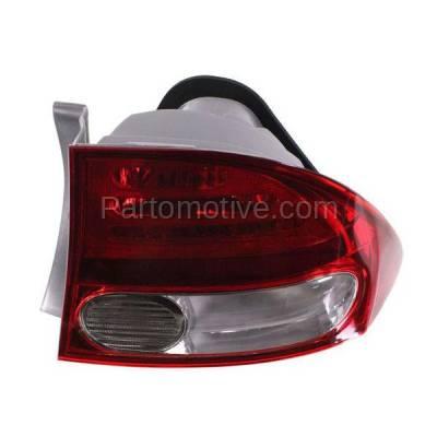 Aftermarket Replacement - TLT-1376R 09-11 Civic Sedan Taillight Taillamp Rear Brake Light Lamp Right Passenger Side