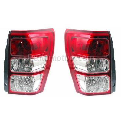 Aftermarket Replacement - TLT-1377L & TLT-1377R 06-12 Grand Vitara Taillight Taillamp Brake Light Lamp Left Right Side Set PAIR
