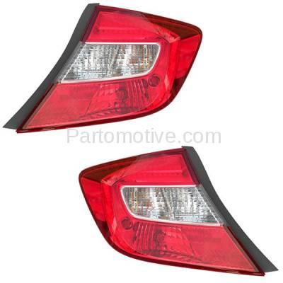 Aftermarket Auto Parts - TLT-1640LC & TLT-1640RC CAPA 2012 Civic Sedan Taillight Taillamp Brake Light Lamp Left & Right Set PAIR