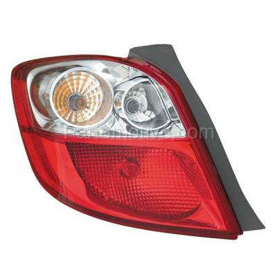 Aftermarket Auto Parts - TLT-1605LC CAPA 09-13 Toyota Matrix Taillight Taillamp Rear Brake Light Lamp Driver Side LH