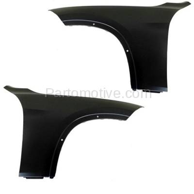 Aftermarket Replacement - FDR-1815LC & FDR-1815RC CAPA 2013-2015 BMW X1 (2.0 & 3.0 Liter Engine) Front Fender Quarter Panel (without Turn Signal Light Holes) Steel Left & Right Side