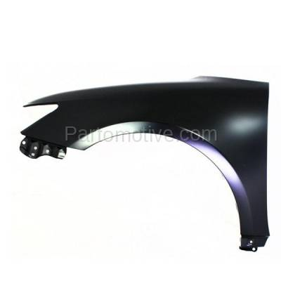 Aftermarket Replacement - FDR-1749LC CAPA 2011-2016 Scion tC (2-Door Coupe) 2.5L Front Fender Quarter Panel (without Molding Holes) Primed Steel Left Driver Side