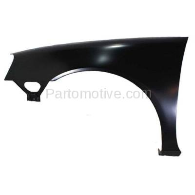 Aftermarket Replacement - FDR-1369LC CAPA 2004-2008 Pontiac Grand Prix (Base, GT, GT1, GT2, GTP) Front Fender Quarter Panel (without Molding Holes) Primed Steel Left Driver Side