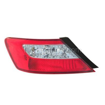 Aftermarket Auto Parts - TLT-1375LC CAPA 09-11 Civic Coupe Taillight Taillamp Rear Brake Light Lamp Driver Side LH