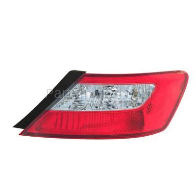 Aftermarket Auto Parts - TLT-1375RC CAPA 09-11 Civic Coupe Taillight Taillamp Rear Brake Light Lamp Passenger Side