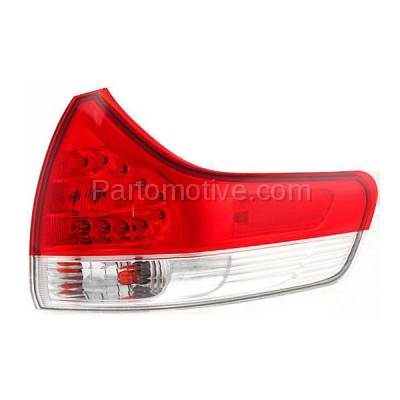 Aftermarket Auto Parts - TLT-1630RC CAPA 11-13 Sienna Taillight Taillamp Rear Brake Outer Light Lamp Passenger Side