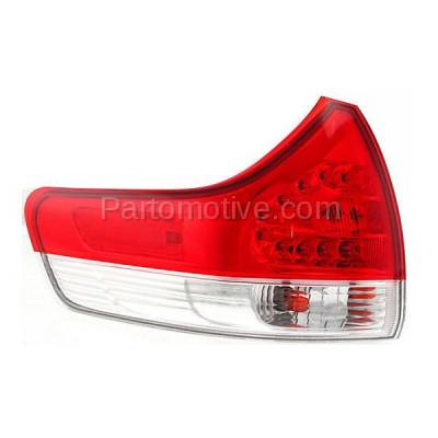 Aftermarket Auto Parts - TLT-1630LC CAPA 11-13 Sienna Taillight Taillamp Rear Brake Outer Light Lamp Driver Side LH