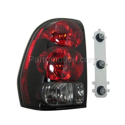 Aftermarket Auto Parts - TLT-1041LC CAPA 02-09 Trailblazer Taillight Taillamp Light Lamp W/Circuit Board Driver Side