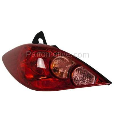 Aftermarket Auto Parts - TLT-1393LC CAPA 07-12 Versa Hatchback Taillight Taillamp Rear Brake Light Lamp Driver Side