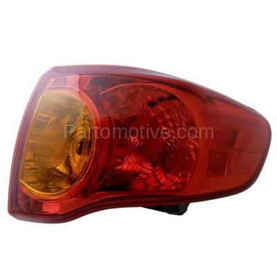 Aftermarket Auto Parts - TLT-1396RC CAPA 09-10 Toyota Corolla Taillamp Taillight Brake Light Lamp Passenger Side RH