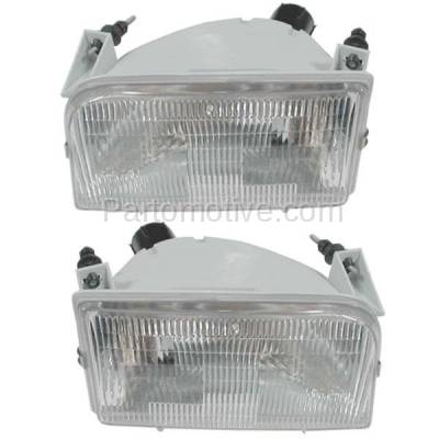 Aftermarket Auto Parts - HLT-1078LC & HLT-1078RC CAPA Bronco/Pickup Truck Headlight Headlamp Head Light Lamp Left Right Set PAIR