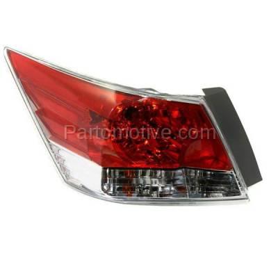 Aftermarket Auto Parts - TLT-1379LC CAPA 08-12 Accord Sedan Taillight Taillamp Rear Brake Light Lamp Driver Side LH