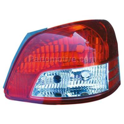 Aftermarket Auto Parts - TLT-1328RC CAPA 06-12 Yaris Sedan Taillight Taillamp Rear Brake Light Lamp Passenger Side