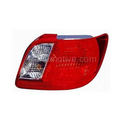 Aftermarket Auto Parts - TLT-1341RC CAPA Taillight Taillamp Brake Light Lamp Passenger Side RH For 06-11 Rio Sedan