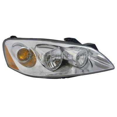 Aftermarket Auto Parts - HLT-1288RC CAPA 05-10 Pontiac G6 Headlight Headlamp Front Head Light Lamp Passenger Side