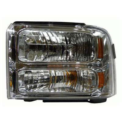 Aftermarket Auto Parts - HLT-1325LC CAPA 05-07 F-Series SuperDuty Headlight Headlamp Head Light Lamp Driver Side DOT