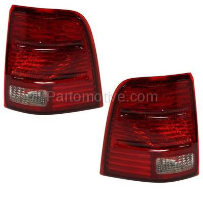 Aftermarket Auto Parts - TLT-1008LC & TLT-1008RC CAPA 02-05 Explorer 4DR Taillight Taillamp Brake Light Lamp Left Right Set PAIR