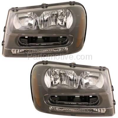 Aftermarket Auto Parts - HLT-1136LC & HLT-1136RC CAPA 02-09 Trailblazer Headlight Headlamp Head Light Lamp Left & Right Set PAIR