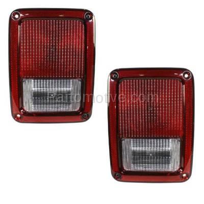 Aftermarket Auto Parts - TLT-1406LC & TLT-1406RC CAPA 07-13 Wrangler Taillight Taillamp Rear Brake Light Lamp Left Right Set PAIR