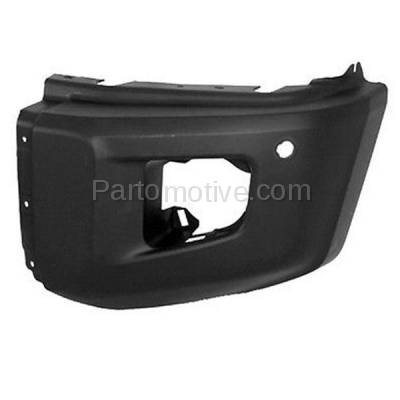 Aftermarket Replacement - BED-1131L 2014-2019 Toyota Tundra Pickup Truck (with Park Aid Sensor Hole) Front Bumper Extension End Cap Primed Plastic Left Driver Side