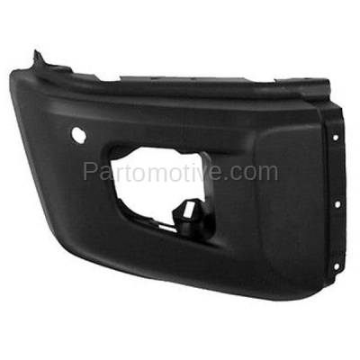 Aftermarket Replacement - BED-1131R 2014-2019 Toyota Tundra Pickup Truck (with Park Aid Sensor Hole) Front Bumper Extension End Cap Primed Plastic Right Passenger Side